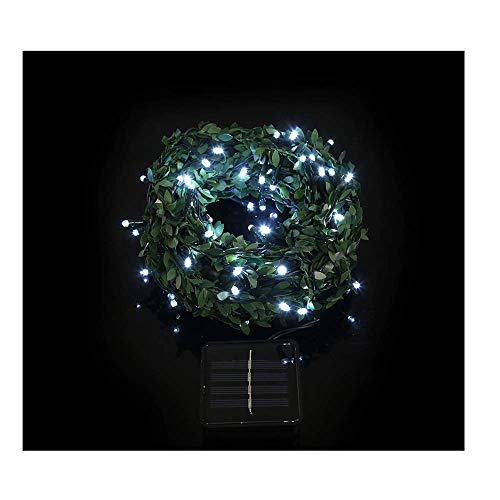 100 Led Rattan Colours Solar Powered Lighting Lamps Christmas Lamp Decorations Xmas Party Home Decor Rusilay Hanging Indoor/Outdoor for Bistro Tents Market Cafe Gazebo Porch Letters (White)