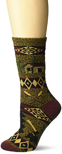 For Bare Feet Women's FBF Originals Wildlife Novelty Socks, Cabin Blanket Motif, Medium