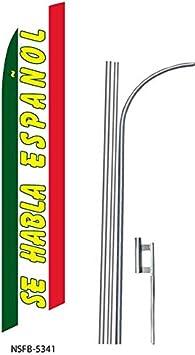 4 four SE HABLA ESPANOL 15 Swooper #8 Feather Flags KIT