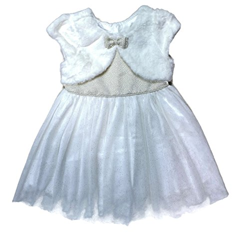 Gold Christmas Holiday Dress - Jona Michelle Holiday Christmas Dress for Girls (3T, Ivory/Gold)