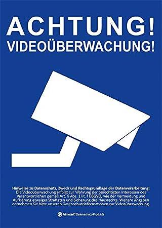 Dsgvobdsg Datenschutz Aufkleber Schild Info Aushang Video