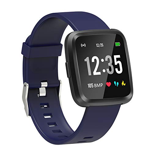 YoYoFit Full Touch Screen Smart Fitness Watch,Fitness Tracker Watch with Heart Rate Monitor Sleep Monitor,Activity Tracker with Multi-Sports Smart Notification Music Player Control for Men Women