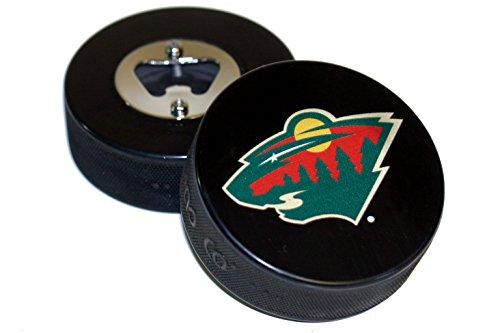 fan products of Minnesota Wild Basic Logo Hockey NHL Puck Bottle Opener