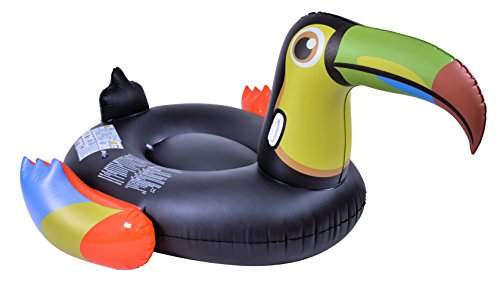 "Toucan Pool Float, Black, Yellow, 81.5"" L x 61"" W x 35"" H - RhinoMaster Play NT6082"