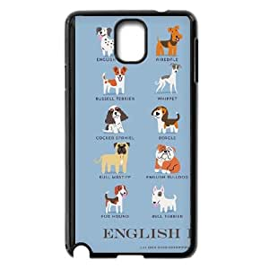 Samsung Galaxy Note 3 Cell Phone Case Black ENGLISH DOGS Bffe