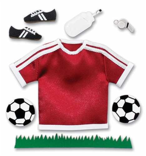JOLEES Pep Rally Boutique Themed Ornate Stickers, Soccer/Maroon -