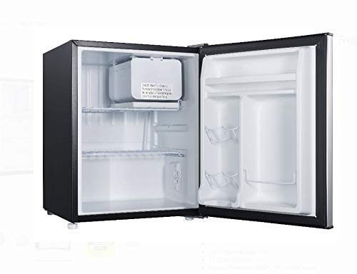 2.7 cubic foot stainless look compact dorm refrigerator (Retro Fridge Freezers Best Prices)