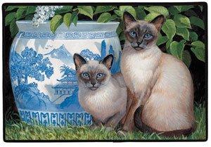 China azul gato siamés gatos Felpudo alfombra decoración del hogar