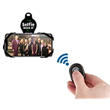 Selfie Stick-It - Convert Any Surface Into An Instant Photo Booth - Wireless Selfie Stick - Bluetooth Selfie Stick - Anti Gravity Phone Case - Stickable Phone Mount - As Seen On TV (Black)
