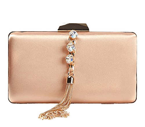 HopeEye wedding 2 Evening bag elegant wallet Womens golden noble Satin waistbag clutch rwRr04q