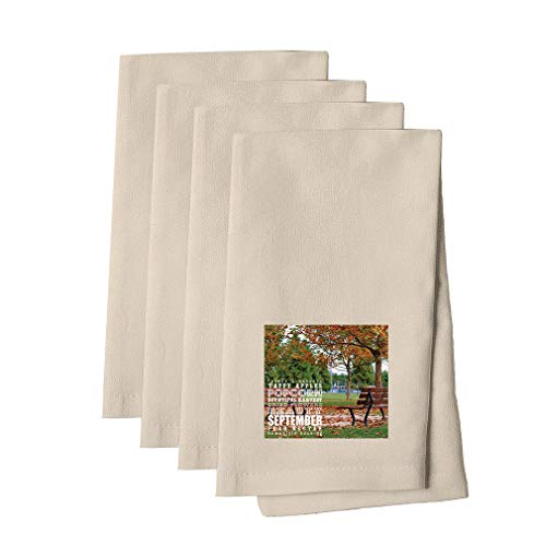 Farmer'S Markets Flowers In The Meadow #2 Cotton Canvas Dinner Napkin, Set of - Meadow Canvas 2