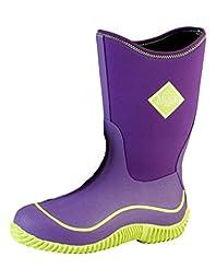 MuckBoots Kids\' Hale Snow Boot, Black/Neon Green, 3 M US Little Kid