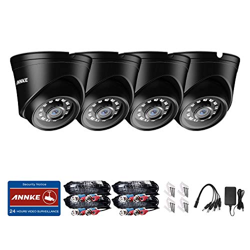 ANNKE New FULL HD 1080P 2000TVL Dome Security Camera, Outdoor/Indoor Wired  Security Surveillance Camera, 85ft Night Vision- 4 Pack