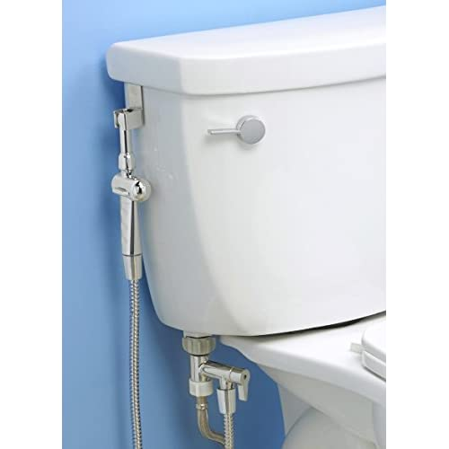 "outlet Aquaus 360 Bidet - 5"" Extension Included! Premium Hand Held Bidet w/ Dual Ergonomic Thumb Pressure Controls on Both Sides of the Sprayer for EZ Pressure Control - Made in USA – 3 Year Warranty"