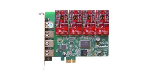 OpenVox A400E04 4 Port Analog PCIe Base Card with 4 - 4 Analog Line Card Port