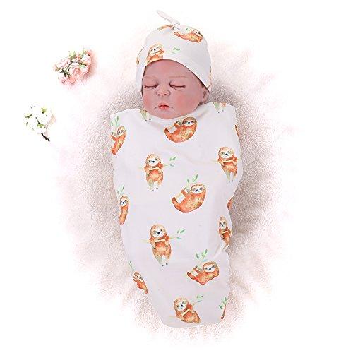 ankets Elephant Baby Swaddle Wrap Soft Zoo Animals boy swaddling Blanket ()