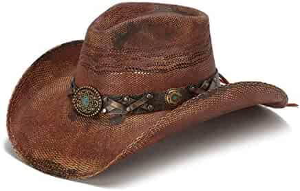 3be66bab385 Stampede Hats Women s Cowgirl Drim Rustic Cowboy Hat with Turquoise Stone