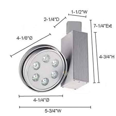 Jesco Lighting HCF703W Contempo Wall Washer Series Compact Fluorescent Track Head for H 3-Wire Single Circuit Track System White