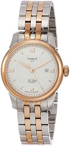 Tissot Le Locle Automatic Silver Dial Two-Tone Ladies Watch T006.207.22.038.00