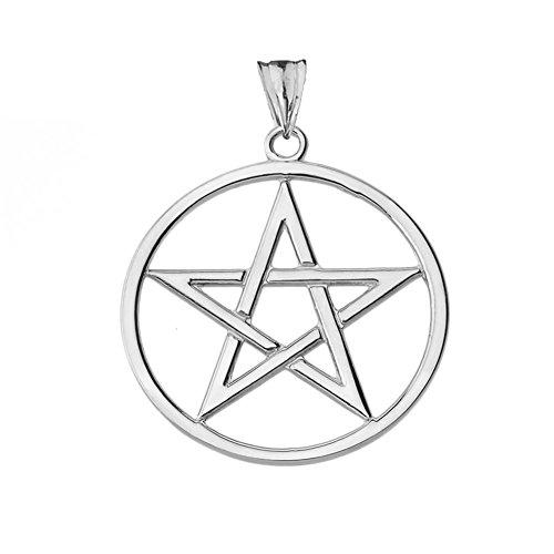 Elegant Sterling Silver Pentagram Charm Pendant