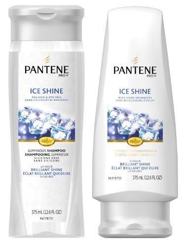 Pantene Ice - Pantene Pro-V Ice Shine - Luminous Shampoo & Conditioner Set - Net Wt. 12-12.6 FL OZ Each - One Set by Pantene
