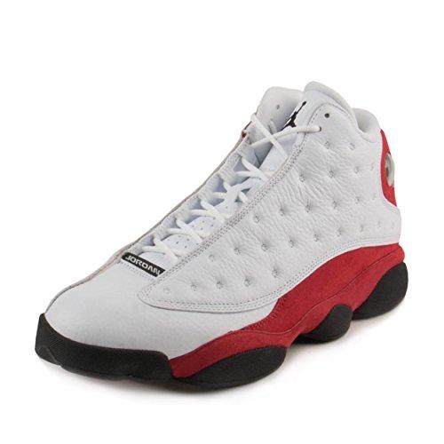 Authentic Retro Shoes (Jordan Men Air 13 Retro (White/Black-Team Red) Size 11.5 US)