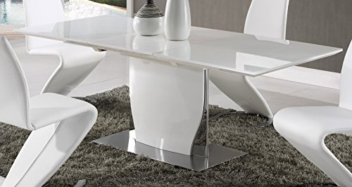 Global Furniture Dining Table, White High Gloss by Global Furniture USA