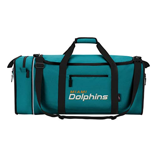 NFL Miami Dolphins NFL Steal Duffel, Teal, Measures 28