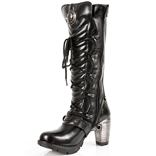 Heels Black Style Boots Steel NEWROCK S1 Womens Rock New M TR004 qvnwCax0