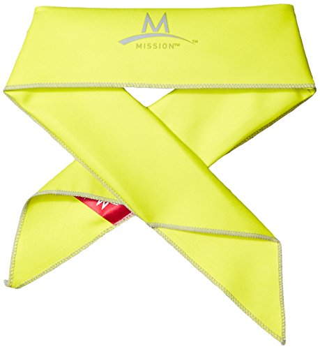 Mission Enduracool Cooling Bandana, Yellow, One Size