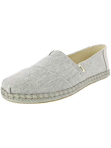 TOMS Women's Alpargata on Rope Drizzle Grey Slub Chambray On Rope 6.5 B US ()