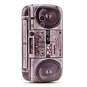 Retro Design Radio Pattern Hard Back Cover Case for Samsung Galaxy S3 Mini I8190