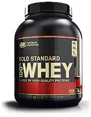 Optimum Nutrition ON Gold Standard Whey Protein Pulver, Eiweißpulver Muskelaufbau mit Glutamin und Aminosäuren, natürlich enthaltene BCAA, Double Rich Chocolate, 74 Portionen, 2.27kg