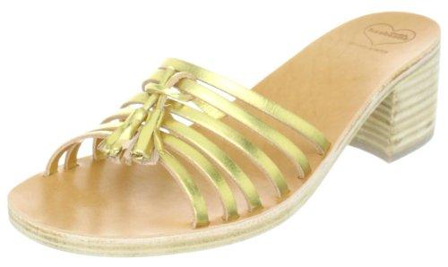Swedish Hasbeens Tassel Sandal High 026 Damen Sandalen/Fashion-Sandalen Gold (Gold)