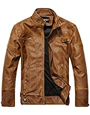 Autumn Winter Fashion Trendy Coat Zip Up Jacket Men's Faux Leather Motorcycle Jacket Plus Velvet Warm Comfy Handsome Casual Windproof Jacket