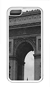 iPhone 5C Case Arc De Triomphe France TPU Custom iPhone 5C Case Cover White