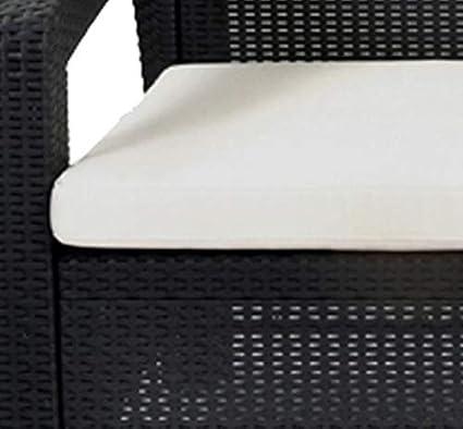 Keter Lounge Sofa Korfu Balkon graues Lounge Sofa in Rattanoptik Lounge 2-Sitzer