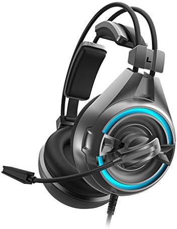 E-Sport-Noise-Cancelling-Headset, LED-Atmungsleuchten Free Drive-Mikrofon 7.1-Kanal-Stereo-Surround-Game-Sound-Kopfhörer