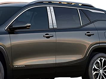 Made in USA! Works with 2010-2017 GMC Terrain 4PC Stainless Steel Chrome Pillar Post Trim