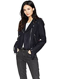Women's Faux Suede Asymmetrical Belted Motorcycle Jackets