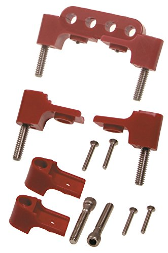 Taylor Cable 42721 Red Horizontal Mounting Bracket for Clamp Style Wire Separators (Loom Kit Wire Horizontal)