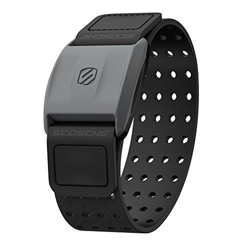 Scosche Rhythm+ Heart Rate Monitor Armband - Optical Heart Rate Armband Monitor with Dual Band Radio ANT+ and Bluetooth Smart from Scosche
