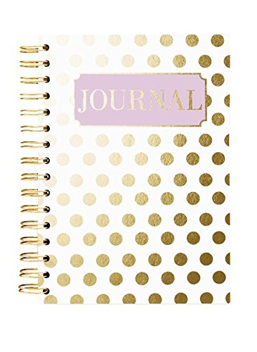 Graphique Gold Dot Hard Bound Journal w/Stylish Polka Dots Embellished with Gold Foil, Fun, Durable Notebook for Notes, Lists, Recipes, and More, 160 Ruled Pages, 6.25