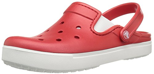 Crocs Citilane Clog Flm/Whi, Zoccoli Unisex – Adulto Rosso (Flame/White)