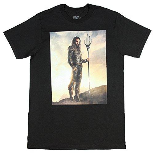 Dc Comics Mens Justice League Aquaman Movie Poster T Shirt  Small