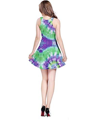 CowCow Damen Kleid Blau Crystal Blue Gr. XXX-Large, Grün - Neon green
