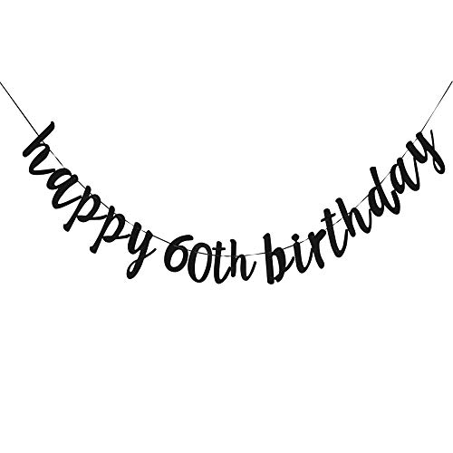 Happy 60th Birthday, 60th Birthday Party Hang Bunting Sign Decorations Photo Props, Party Favors, Supplies, Gifts, Themes and Ideas]()
