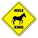 MULE CROSSING Sign novelty gift animals farm