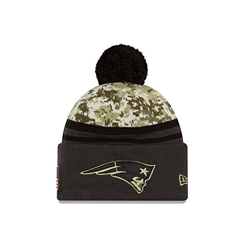 New Era Men's NFL New England Patriots 16 Salute to Service Knit Hat Camo Size One Size (Camo Felt Hat)