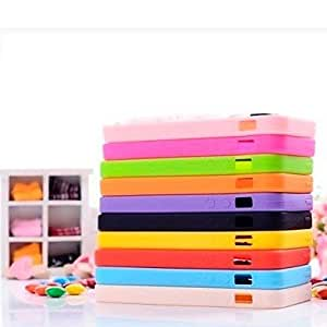 ZL Cute Chocolate Candy Pattern Silicone Case for iPhone 6(Assorted Colors) , Orange